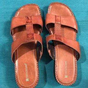 Naturalizer brown leather sandals, Sz9medium